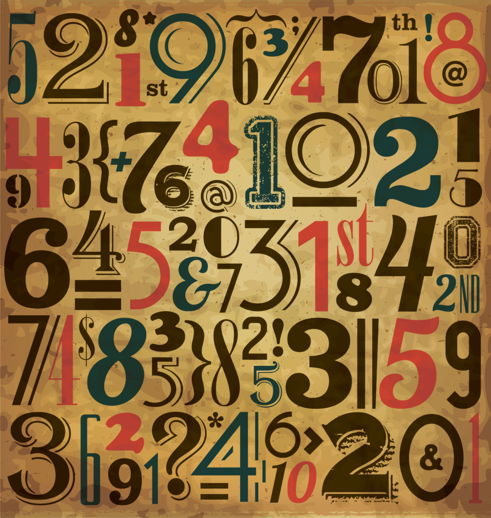 numbers_vintage background