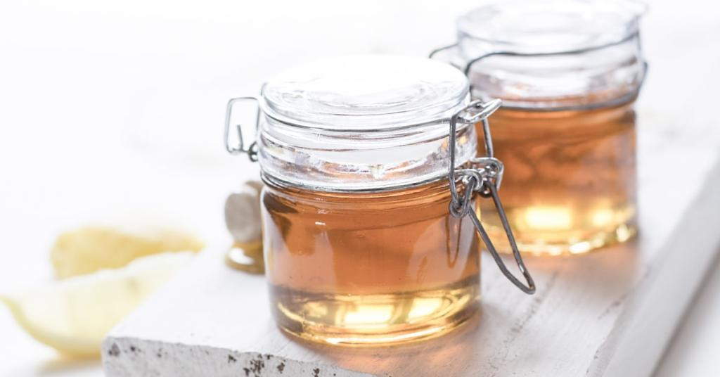 vinegar jars over clean board