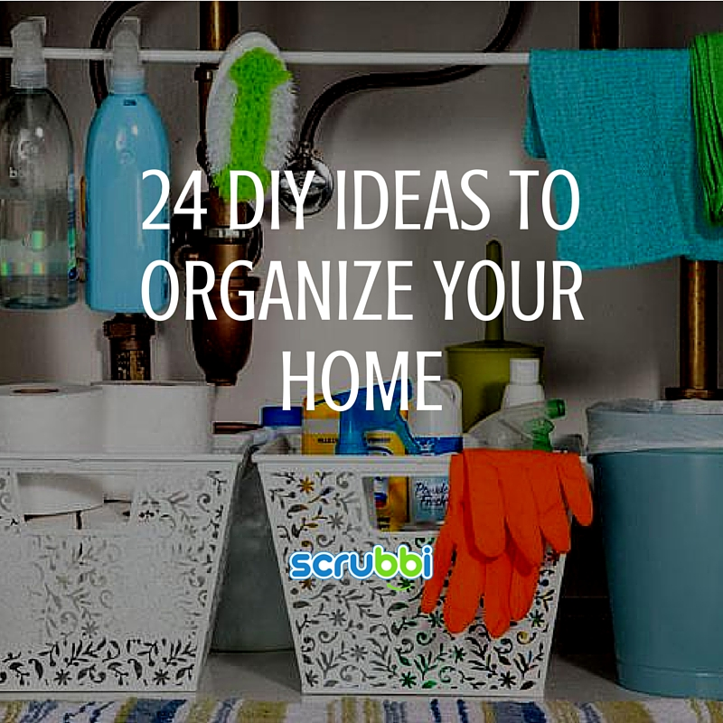 24 diy ideas to organize your home