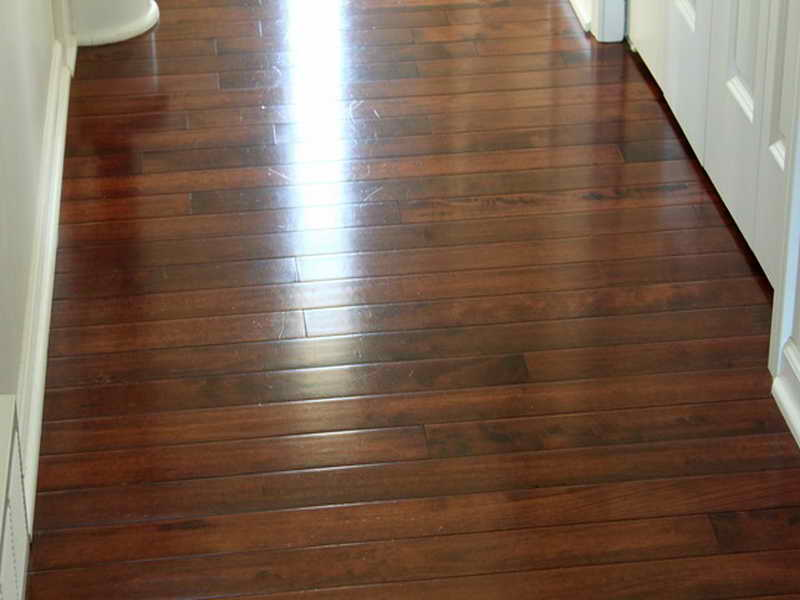 How to get hardwood floors streak free scrubbi for Hard laminate flooring